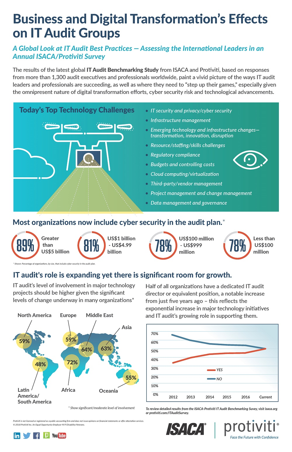 7th Annual IT Audit Benchmarking Survey Infographic