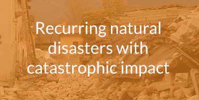 Recurring natural disasters with catastrophic impact