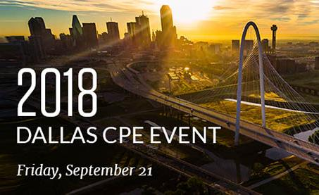 2018 Dallas CPE Event