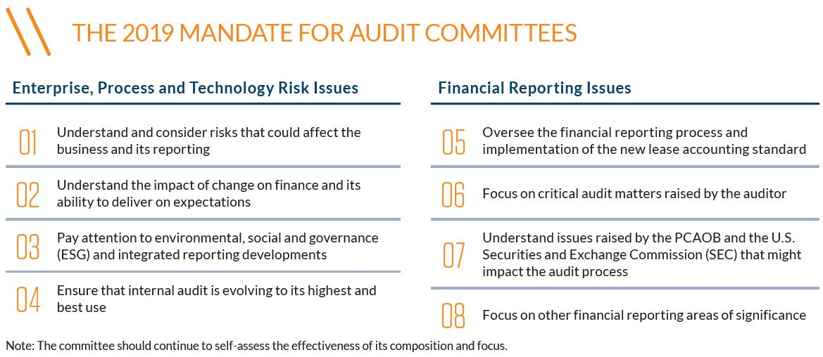 2019 mandate for audit committees