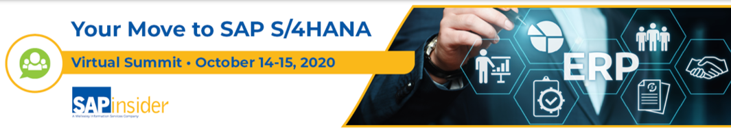 SAP S/4HANA Virtual Summit Nov 17-18, 2020