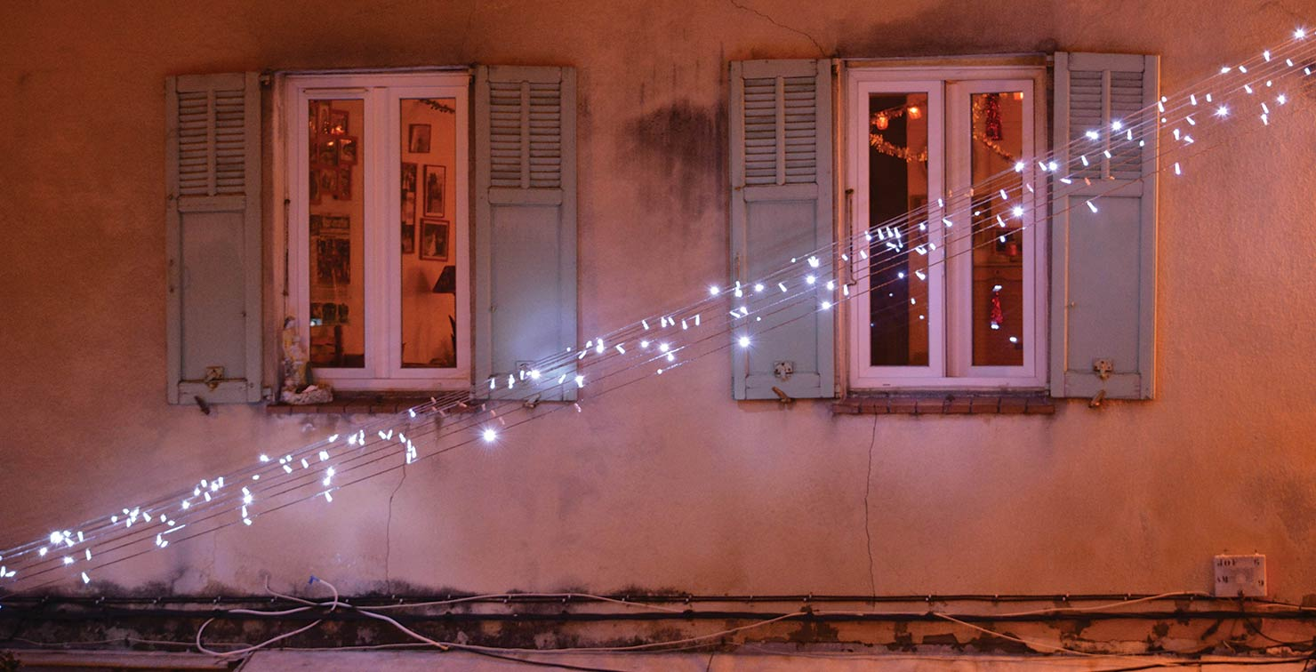 String Lights Window Shutters by Julia Berchtold